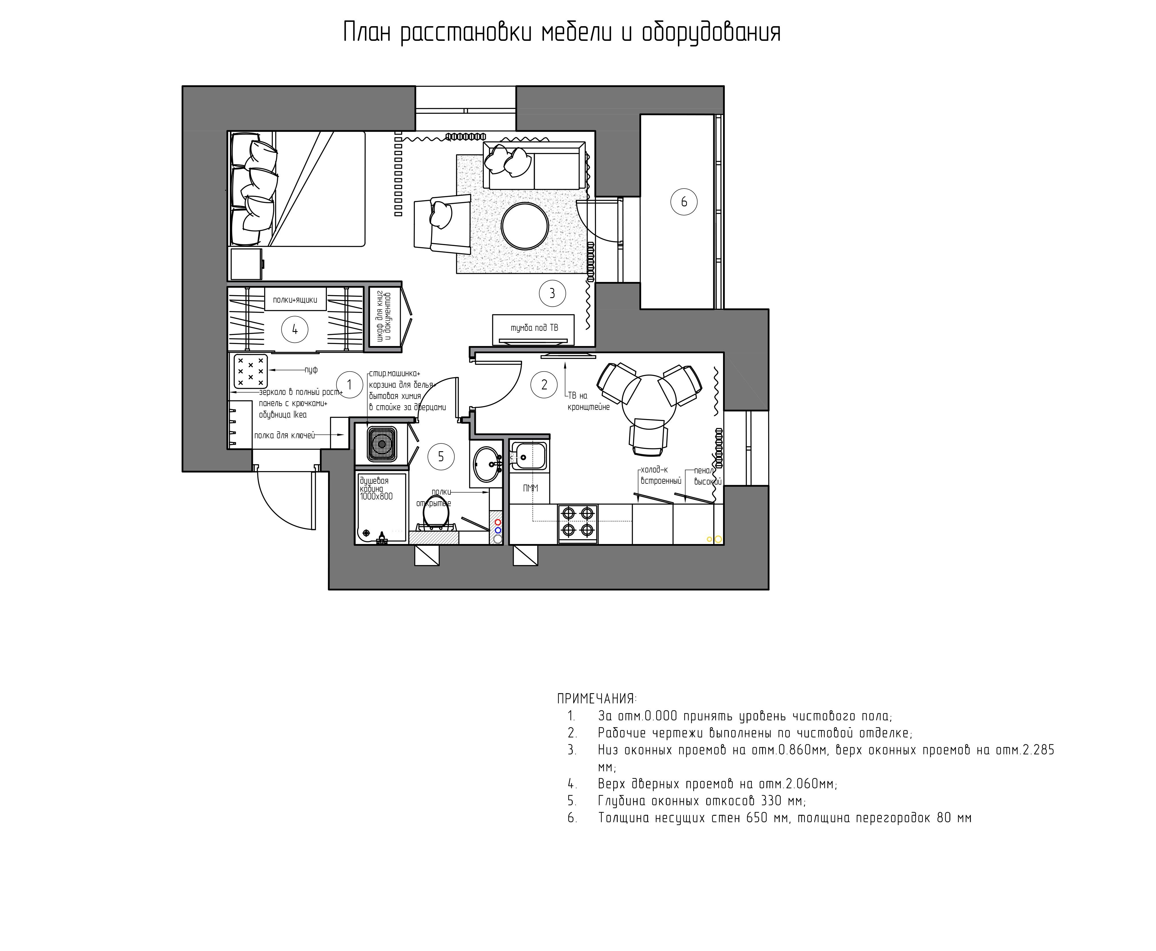 Планировочное решение Квартира в Ярославле