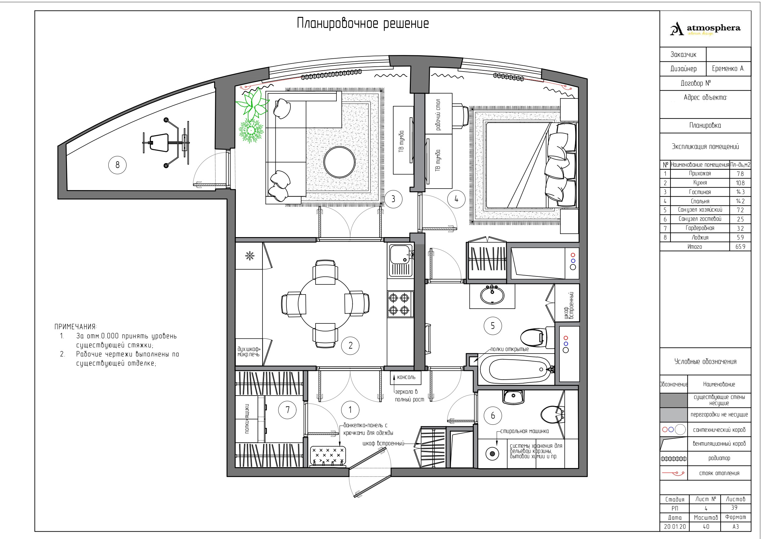 Планировочное решение ЖК «Новая Олимпийская деревня»